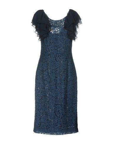 Купить Платье до колена темно-синего цвета