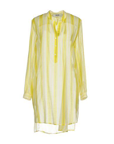 Купить Женское короткое платье MSGM желтого цвета