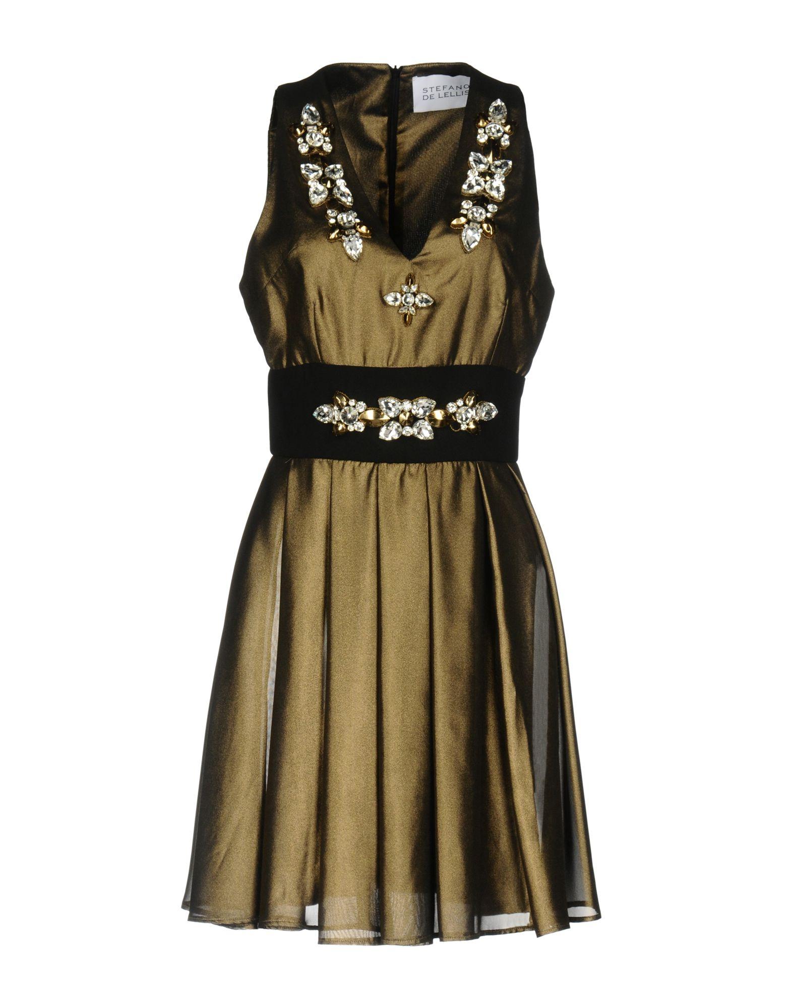 STEFANO DE LELLIS Short Dresses in Bronze