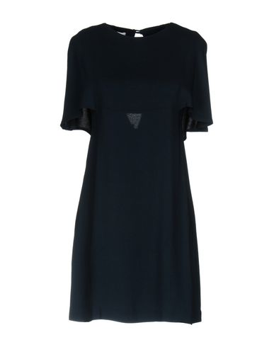 Фото - Женское короткое платье KITAGI® темно-синего цвета
