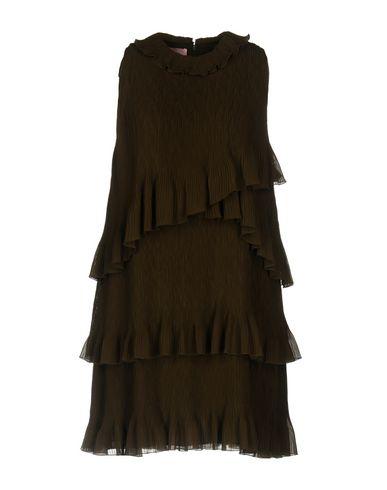 Купить Женское короткое платье  темно-зеленого цвета