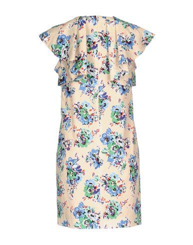 Фото 2 - Женское короткое платье MSGM светло-розового цвета