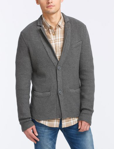 PIQUE STITCH SWEATER BLAZER