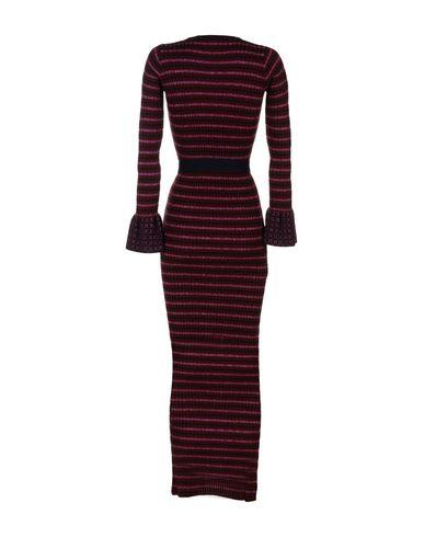 Фото 2 - Женское длинное платье  цвет баклажанный