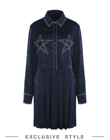 Купить Женское короткое платье KYE x YOOX темно-синего цвета