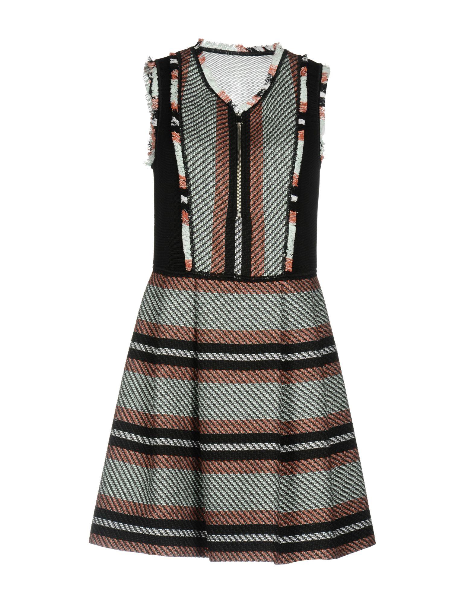 PINKO Damen Kurzes Kleid Farbe Schwarz Größe 3