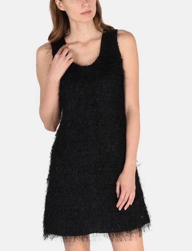 GLITTER FRINGE SHEATH DRESS