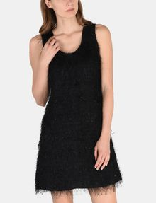 ARMANI EXCHANGE GLITTER FRINGE SHEATH DRESS Mini dress Woman f
