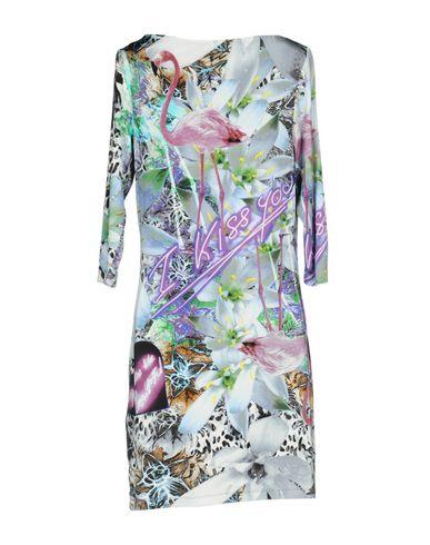 Фото 2 - Женское короткое платье  небесно-голубого цвета