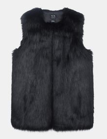 ARMANI EXCHANGE LONGLINE FAUX-FUR GILET Vest Woman b