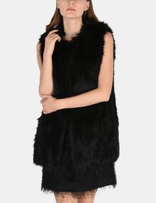 ARMANI EXCHANGE LONGLINE FAUX-FUR GILET Vest Woman f