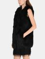 ARMANI EXCHANGE LONGLINE FAUX-FUR GILET Vest Woman d