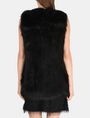 ARMANI EXCHANGE LONGLINE FAUX-FUR GILET Vest Woman r