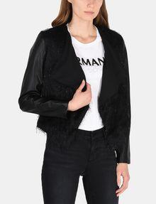 ARMANI EXCHANGE SPARKLE FRINGE CASCADE JACKET Jacket Woman f