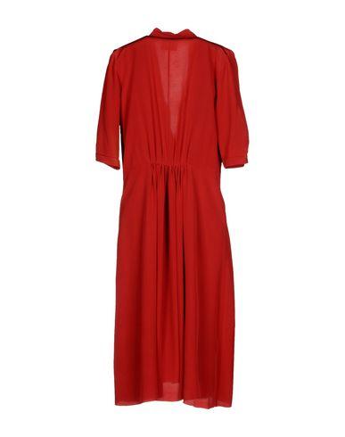 Фото 2 - Платье до колена от FORTE_FORTE кирпично-красного цвета