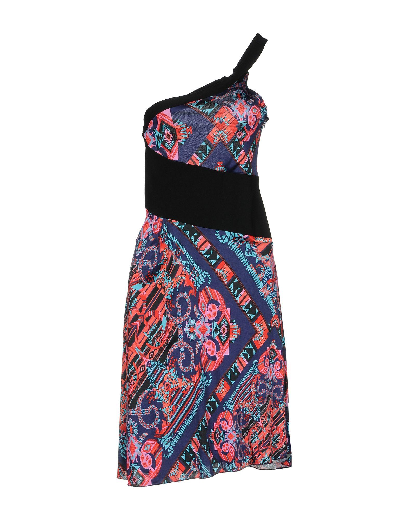 VERSACE COLLECTION Damen Kurzes Kleid Farbe Schwarz Größe 3