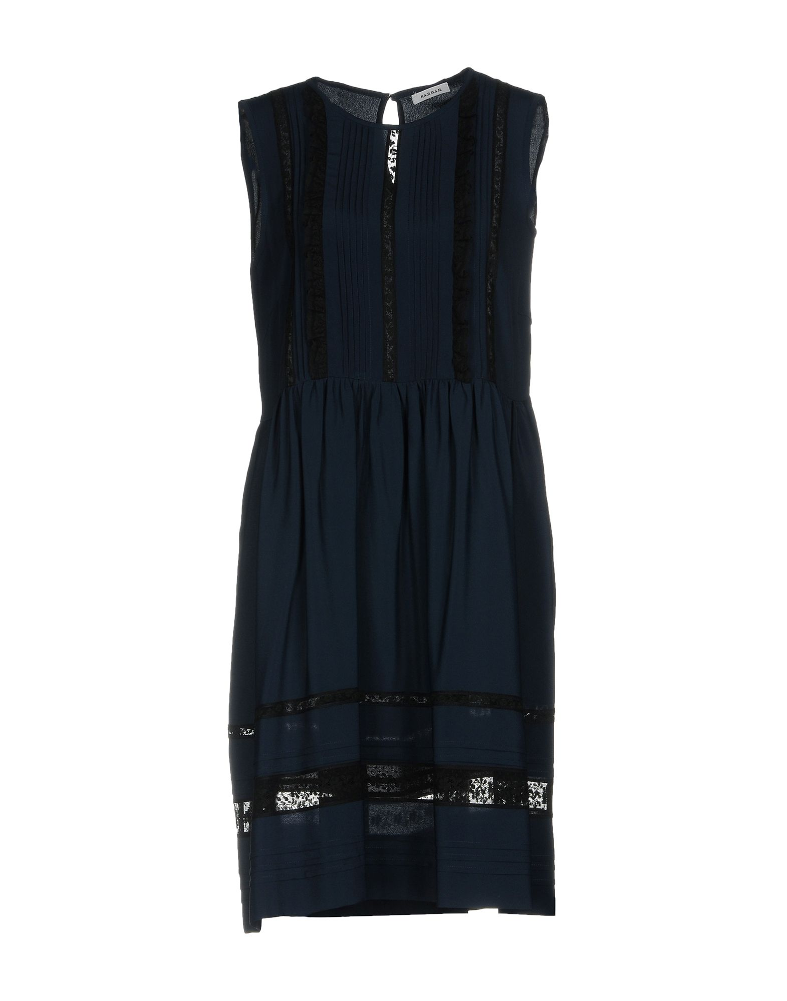P.A.R.O.S.H. Damen Kurzes Kleid Farbe Dunkelblau Größe 5