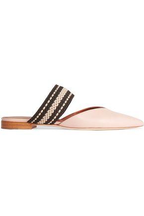 MALONE SOULIERS + Roksanda Hannah leather point-toe flats