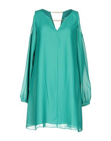 Фото - Женское короткое платье  изумрудно-зеленого цвета