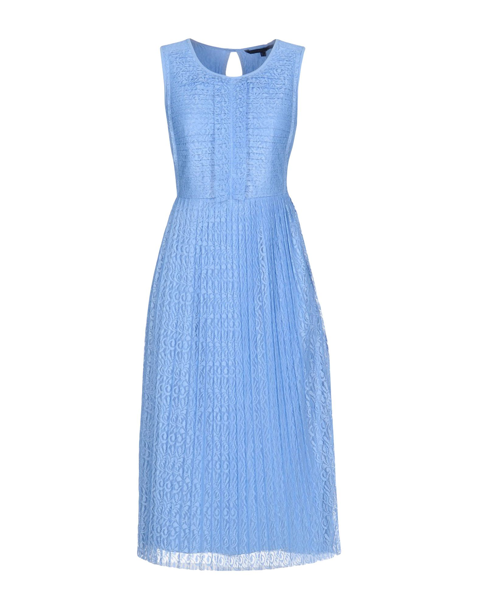 SILVIAN HEACH Damen Knielanges Kleid Farbe Azurblau Größe 6