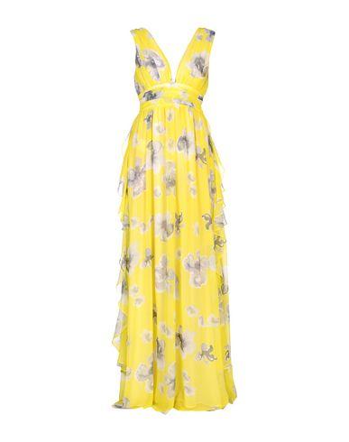 Фото - Женское длинное платье MSGM желтого цвета