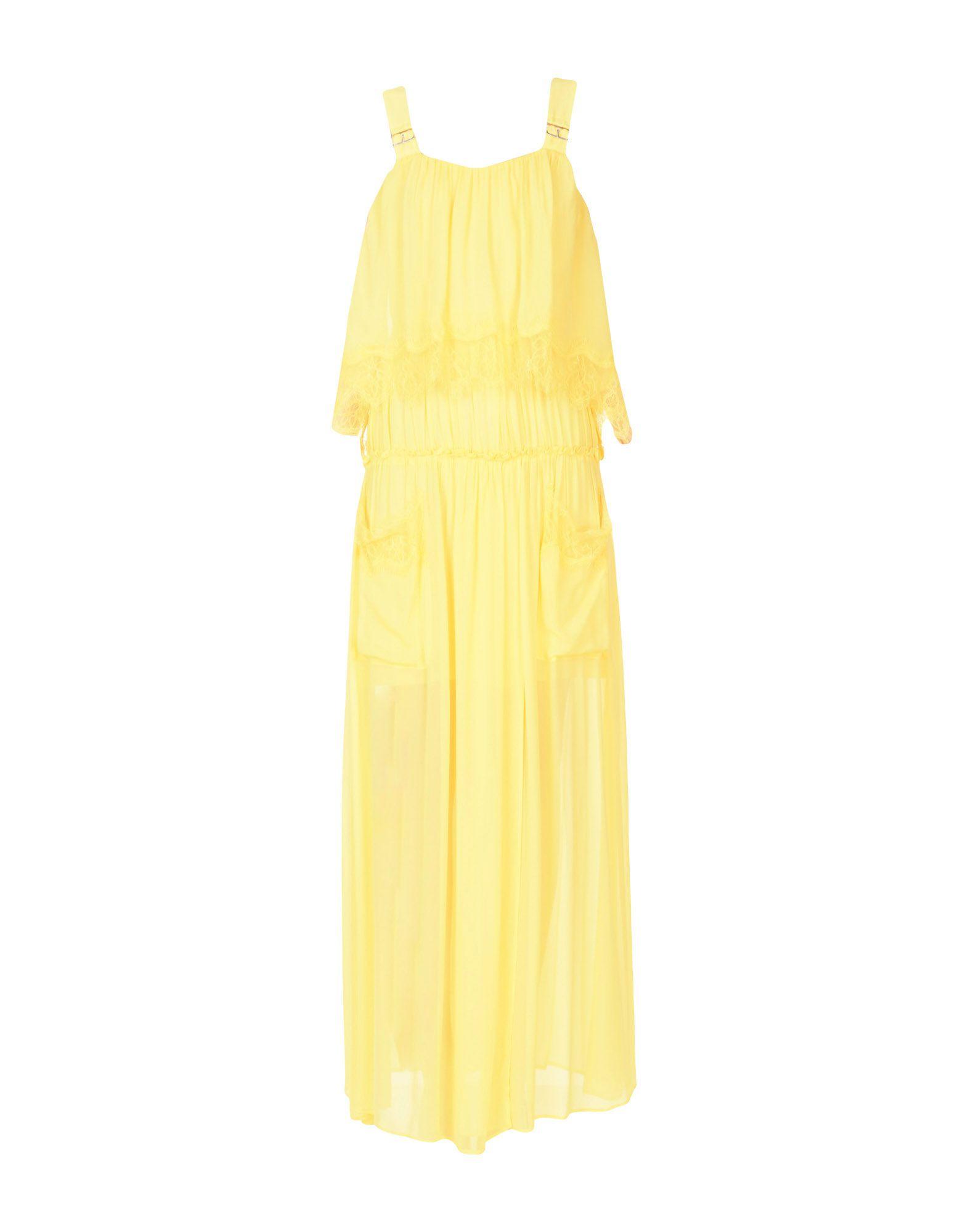 TWINSET Damen Langes Kleid Farbe Gelb Größe 5