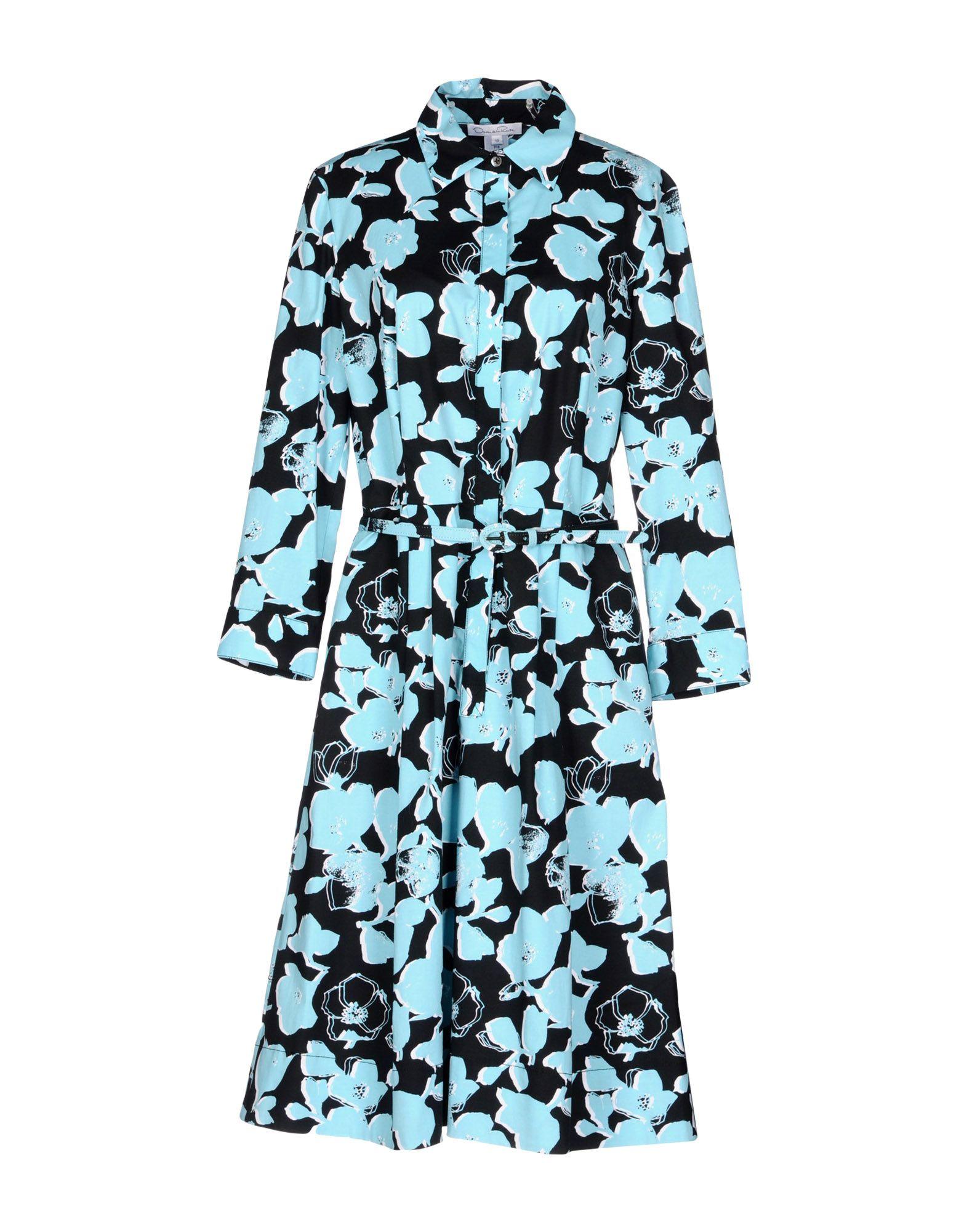 цена OSCAR DE LA RENTA Платье до колена онлайн в 2017 году