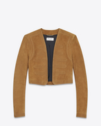 SAINT LAURENT Leather jacket D Hunter jacket in bourbon suede f