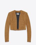 SAINT LAURENT Giacca di Pelle D Hunter jacket in bourbon suede f