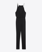 SAINT LAURENT LONG DRESSES D Combination pants in black viscose voile f