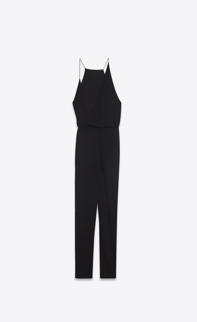SAINT LAURENT LONG DRESSES D Combination pants in black viscose voile b_V4