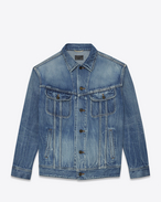 SAINT LAURENT Casual Jackets D Oversized jeans jacket in blue denim f