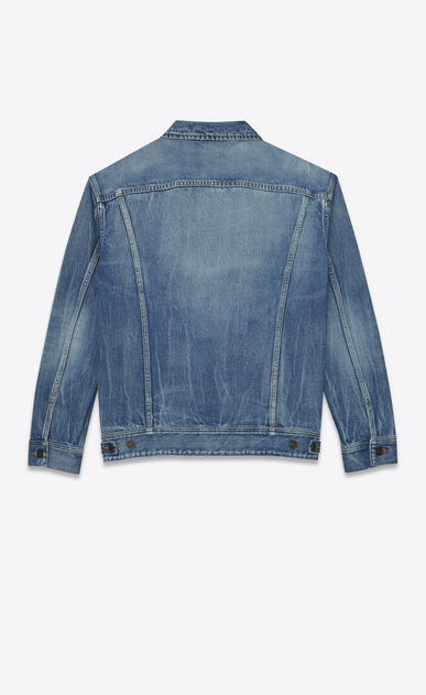 SAINT LAURENT Casual Jackets D Oversized jeans jacket in blue denim b_V4