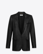 SAINT LAURENT Giacca di Pelle D Classic jacket in black leather f