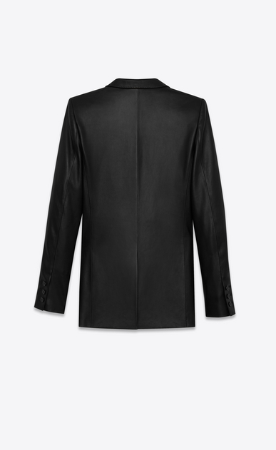 SAINT LAURENT Leather jacket Woman jacket in black leather b_V4