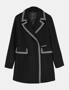 ARMANI EXCHANGE CONTRAST TRIM PEACOAT Jacke Damen b