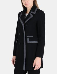 ARMANI EXCHANGE CONTRAST TRIM PEACOAT Jacke Damen d