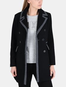 ARMANI EXCHANGE CONTRAST TRIM PEACOAT Jacke Damen f