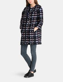 ARMANI EXCHANGE MODERN WOOL BOUCLE COAT Coat Woman a