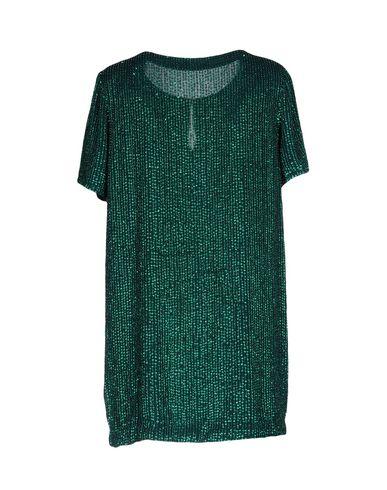 Фото 2 - Женское короткое платье  изумрудно-зеленого цвета