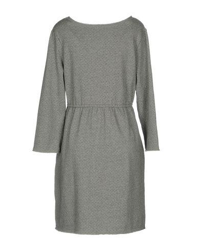 Фото 2 - Женское короткое платье SUN 68 серого цвета