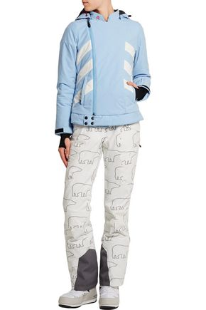 PERFECT MOMENT Biker quilted padded canvas ski jacket