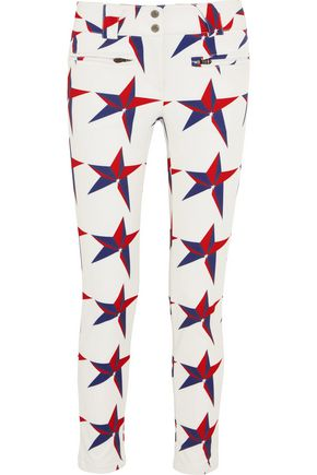 PERFECT MOMENT Aurora printed slim-leg ski pants
