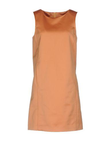 Фото - Женское короткое платье  цвет абрикосовый