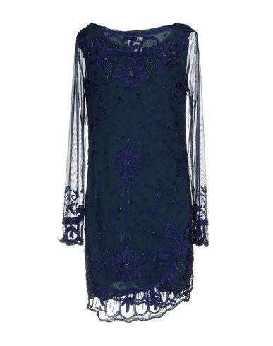 Фото 2 - Женское короткое платье TWINSET темно-синего цвета