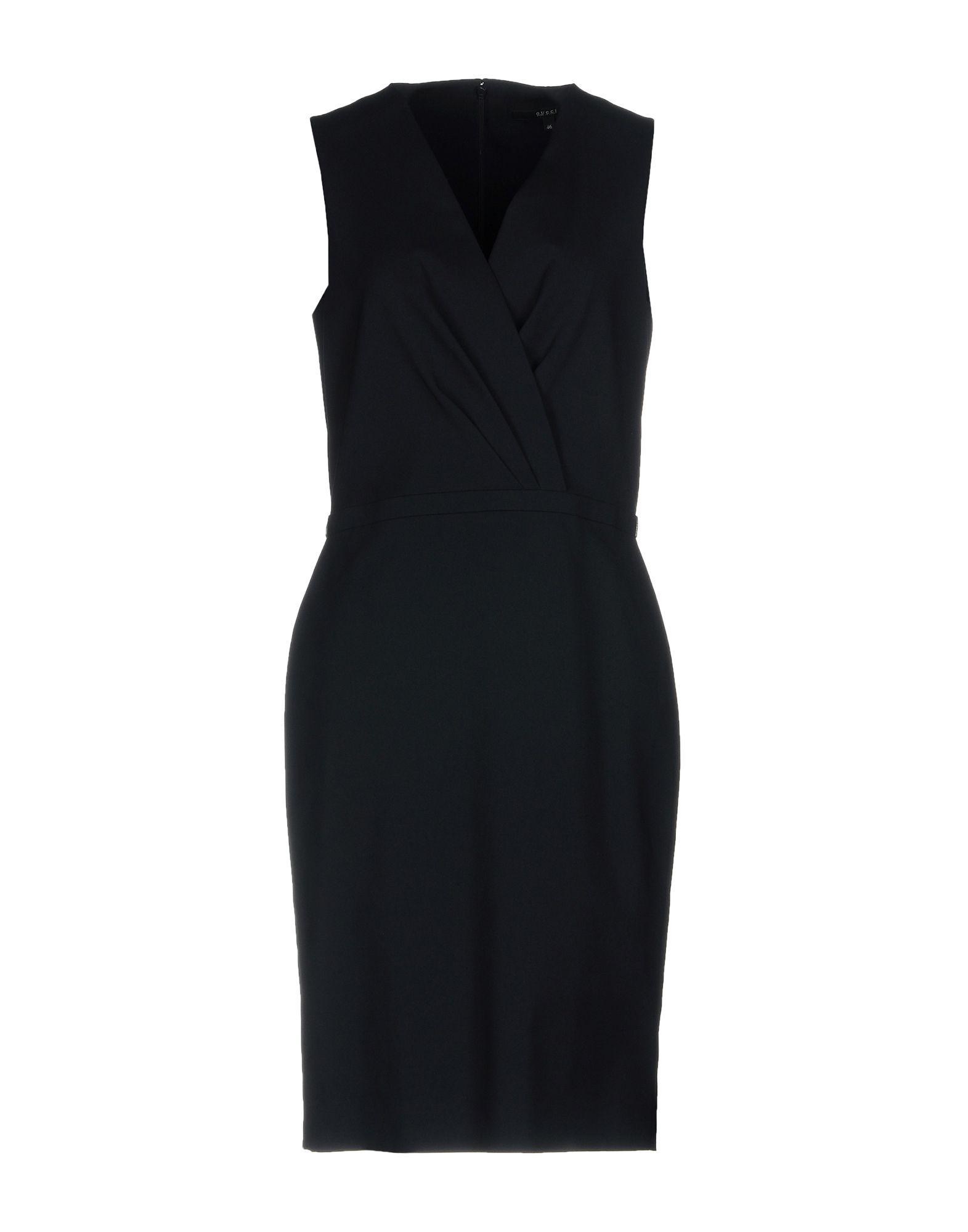 GUCCI Damen Knielanges Kleid Farbe Dunkelblau Größe 6
