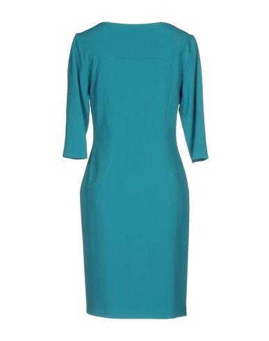 Фото 2 - Женское короткое платье  бирюзового цвета