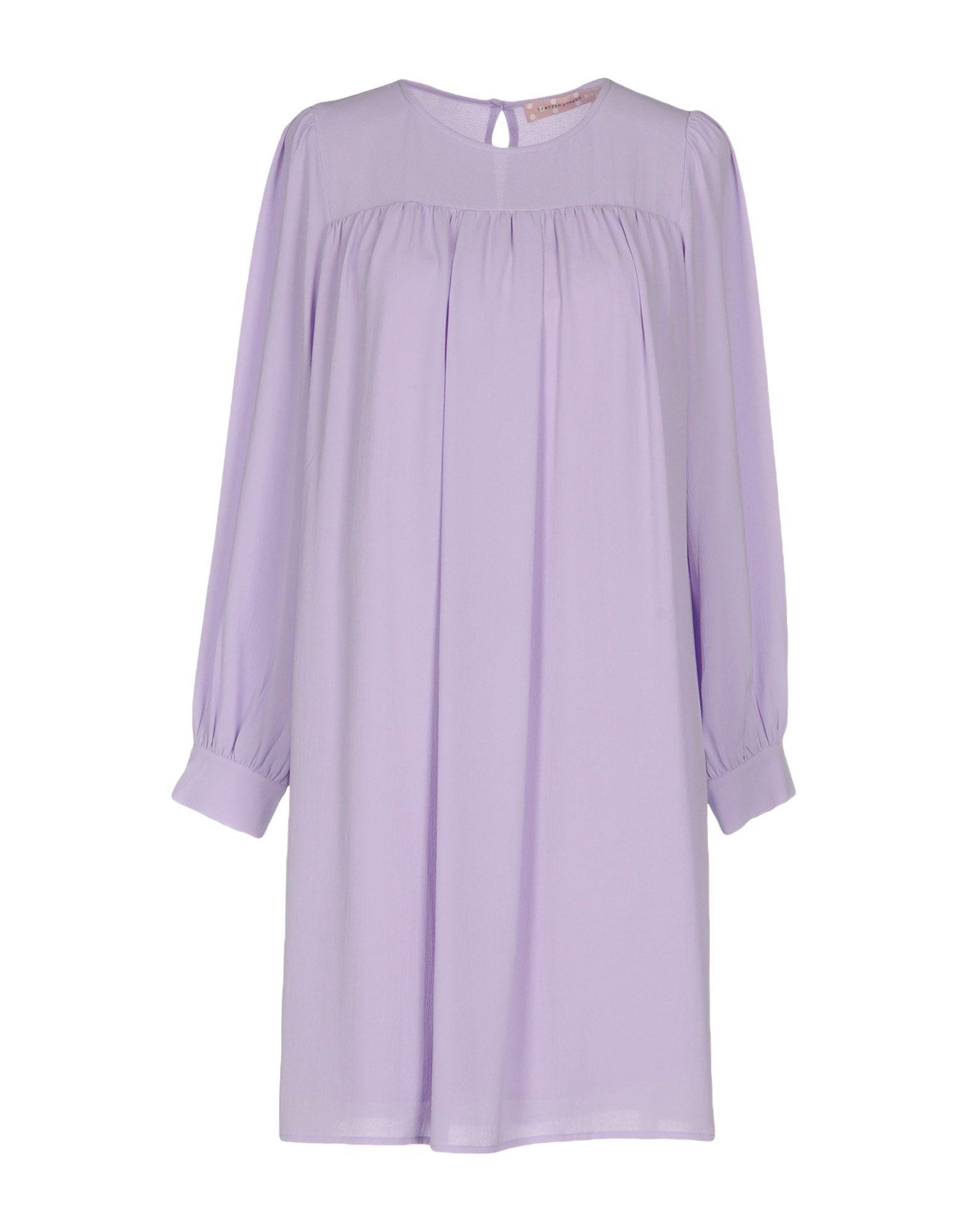 TRAFFIC PEOPLE Damen Kurzes Kleid Farbe Lila Größe 4