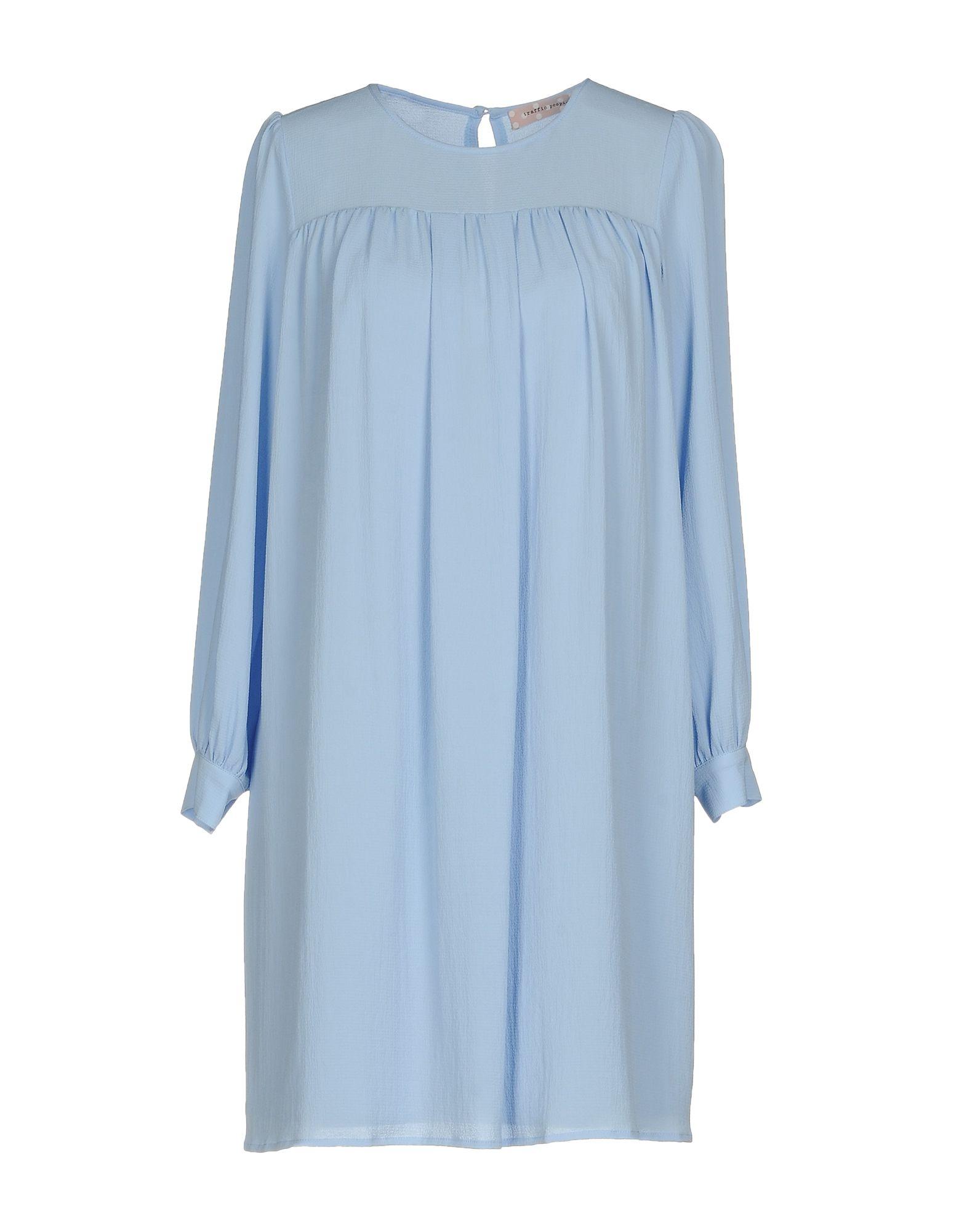 TRAFFIC PEOPLE Damen Kurzes Kleid Farbe Himmelblau Größe 3