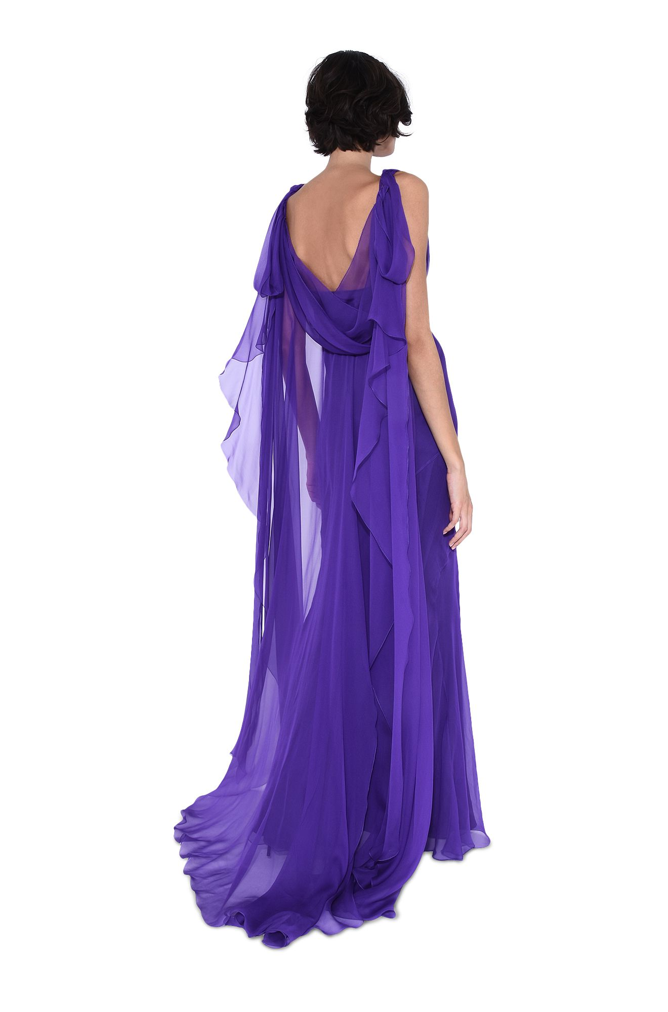 ALBERTA FERRETTI Long Dress D Long dress with flounces r